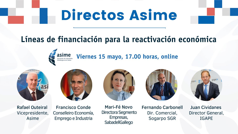 Directo Asime | Líneas de financiación para la reactivación económica