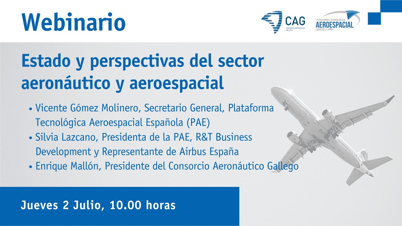 Webinario CAG | Estado y perspectivas del sector aeronáutico y aeroespacial